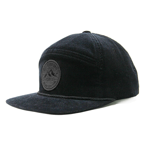EI Corduroy 5panel Cap (black)
