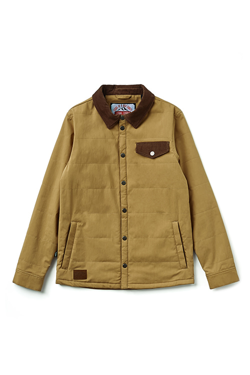 EI QUILTING JKT  Qualifying Beige / Brown
