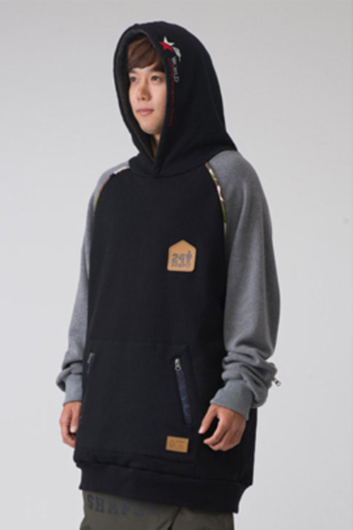 1415 ROMP x TTR Collabor. ROMP IT Tall Hoodie (Black)