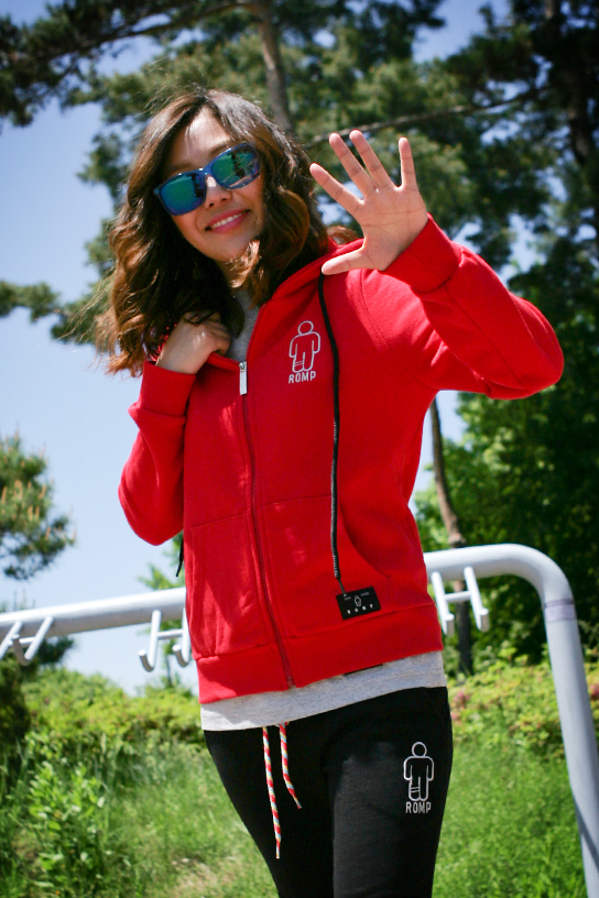 1314 Zip Up Hoodie Red