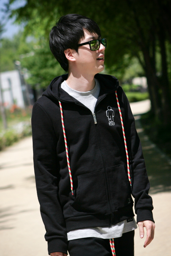 1314 Zip Up Hoodie Black