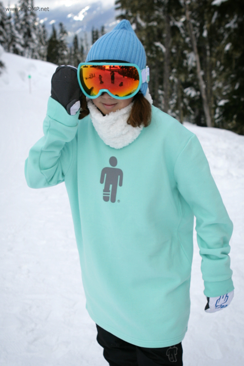 2013 SNOW Crew-Neck NAPPED Sweatshirt - LightMint