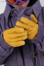 2012 Genuine Leather Gloves - Yellow